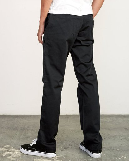3 week-end Stretch straight fit Pant Black M3493RWS RVCA