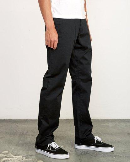 5 week-end Stretch straight fit Pant Black M3493RWS RVCA