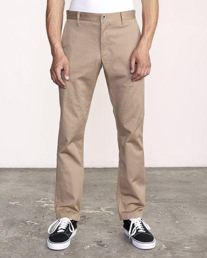 1 week-end Stretch straight fit Pant Grey M3493RWS RVCA