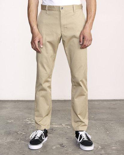 1 week-end Stretch straight fit Pant Beige M3493RWS RVCA