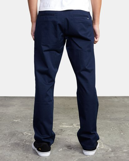 2 week-end Stretch straight fit Pant Blue M3493RWS RVCA
