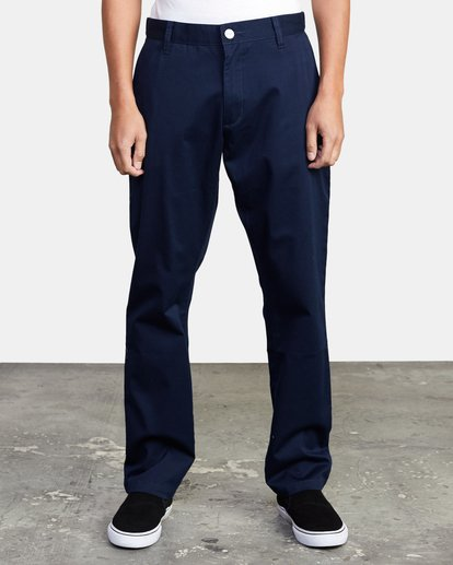 1 week-end Stretch straight fit Pant Blue M3493RWS RVCA
