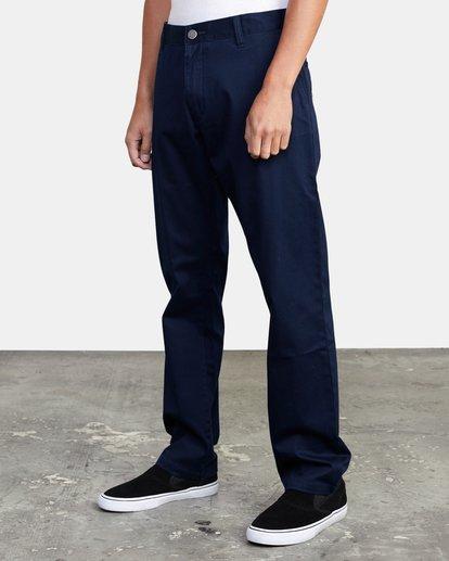 3 week-end Stretch straight fit Pant Blue M3493RWS RVCA