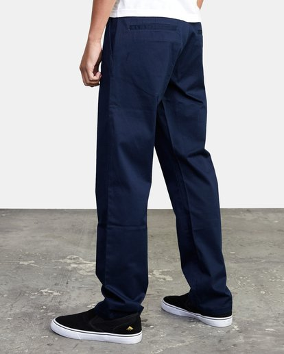 4 week-end Stretch straight fit Pant Blue M3493RWS RVCA