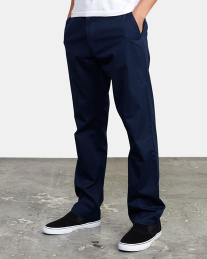 6 week-end Stretch straight fit Pant Blue M3493RWS RVCA