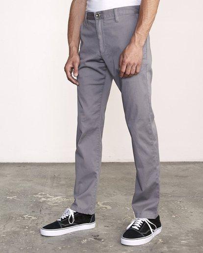 3 week-end Stretch straight fit Pant Grey M3493RWS RVCA