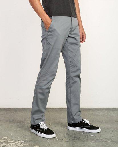 6 week-end Stretch straight fit Pant Grey M3493RWS RVCA
