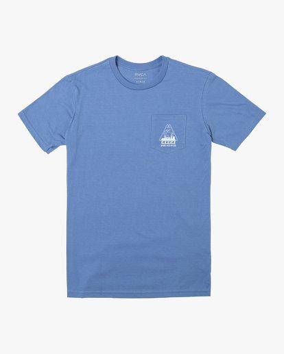 0 LAB CO SHORT SLEEVE TEE Blue M4122RLA RVCA