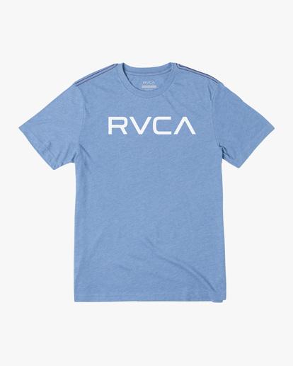 0 BIG RVCA SHORT SLEEVE TEE Blue M420VRBI RVCA