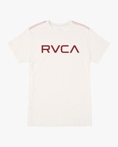 0 BIG RVCA SHORT SLEEVE TEE White M420VRBI RVCA