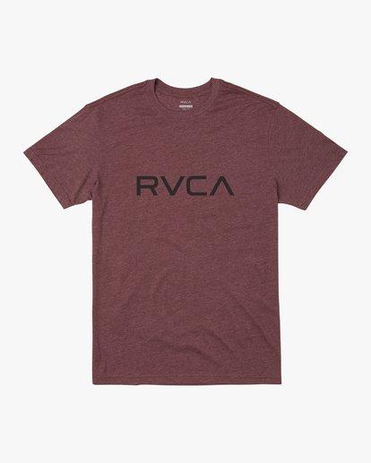 0 BIG RVCA SHORT SLEEVE TEE Red M420VRBI RVCA
