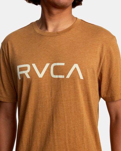 4 BIG RVCA SHORT SLEEVE TEE Brown M420VRBI RVCA