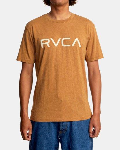 2 BIG RVCA SHORT SLEEVE TEE Brown M420VRBI RVCA