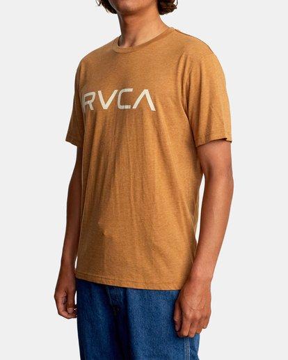 5 BIG RVCA SHORT SLEEVE TEE Brown M420VRBI RVCA