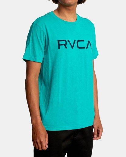 6 BIG RVCA SHORT SLEEVE TEE Blue M420VRBI RVCA