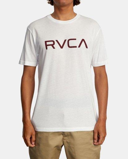 2 BIG RVCA SHORT SLEEVE TEE White M420VRBI RVCA