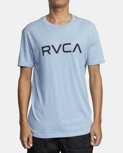 1 BIG RVCA SHORT SLEEVE TEE Blue M420VRBI RVCA