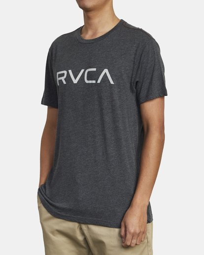 3 BIG RVCA SHORT SLEEVE TEE Black M420VRBI RVCA