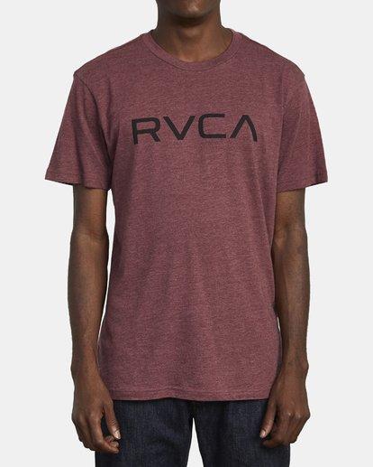 1 BIG RVCA SHORT SLEEVE TEE Red M420VRBI RVCA