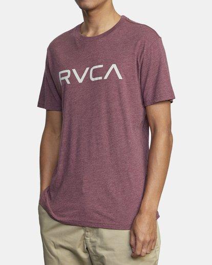 3 BIG RVCA SHORT SLEEVE TEE Red M420VRBI RVCA