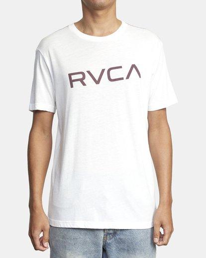 1 BIG RVCA SHORT SLEEVE TEE White M420VRBI RVCA