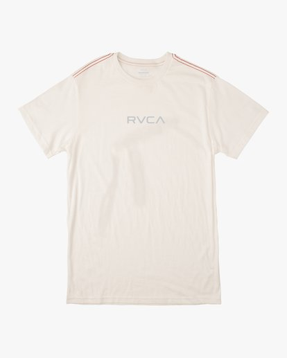 1 Small RVCA Embroidered TEE White M430VRSM RVCA