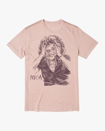 1 CHANGING FACE SHORT SLEEVE TEE Grey M4383RCF RVCA