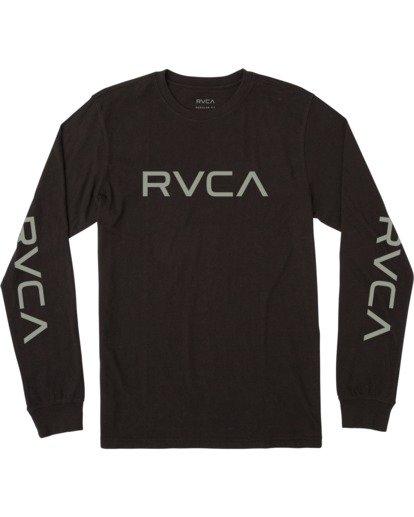 0 BIG RVCA LONG SLEEVE TEE Black M451URBI RVCA