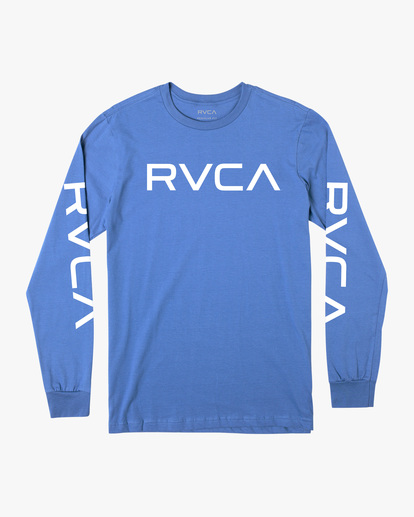 0 BIG RVCA LONG SLEEVE TEE Blue M451URBI RVCA