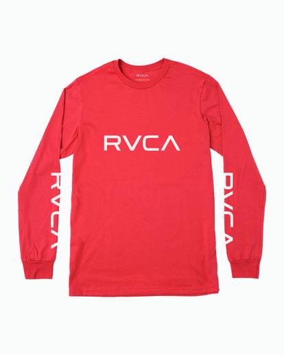 0 Big RVCA Long Sleeve TEE Grey M451URBI RVCA