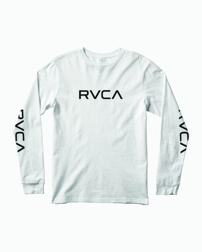 0 Big RVCA Long Sleeve TEE White M451URBI RVCA