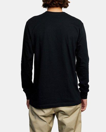 2 Big RVCA Long Sleeve TEE Black M451URBI RVCA