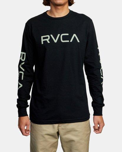 1 Big RVCA Long Sleeve TEE Black M451URBI RVCA