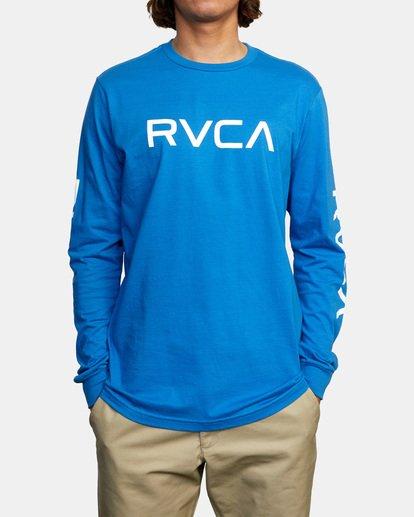 1 BIG RVCA LONG SLEEVE TEE Blue M451URBI RVCA