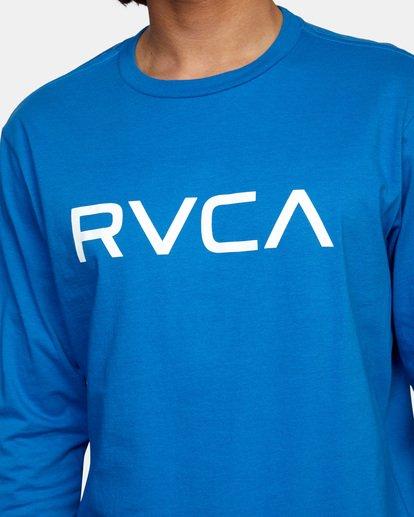 5 BIG RVCA LONG SLEEVE TEE Blue M451URBI RVCA