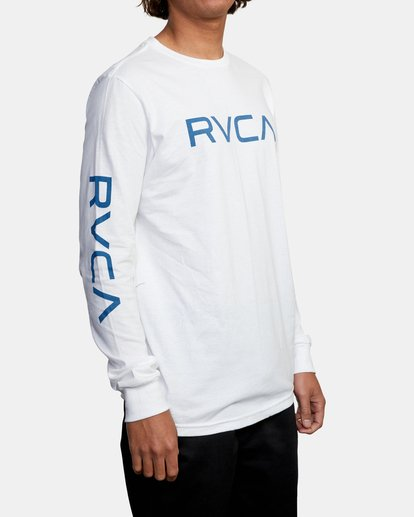 5 BIG RVCA LONG SLEEVE TEE White M451URBI RVCA