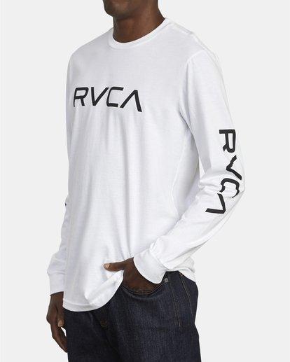 3 Big RVCA Long Sleeve TEE White M451URBI RVCA
