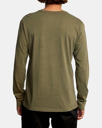 2 PTC Pigment Long Sleeve TEE Green M467TRPT RVCA