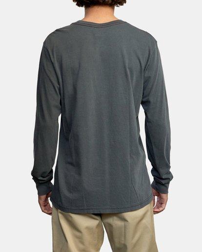 2 PTC Pigment Long Sleeve TEE Black M467TRPT RVCA
