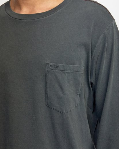 3 PTC Pigment Long Sleeve TEE Black M467TRPT RVCA