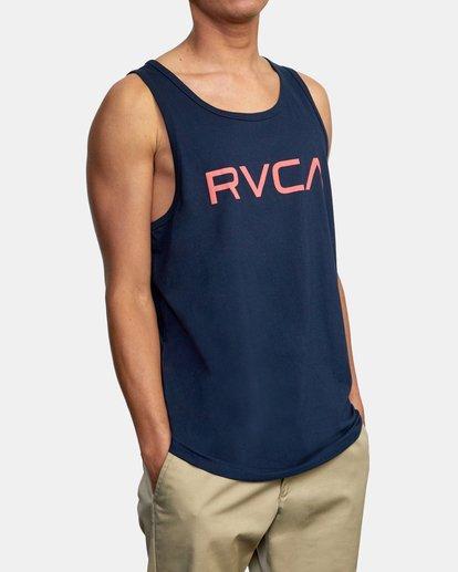 6 BIG RVCA TANK TOP Blue M4812RBI RVCA
