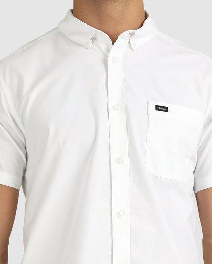 3 That'll Do Stretch Button-Up Shirt White M501VRTD RVCA