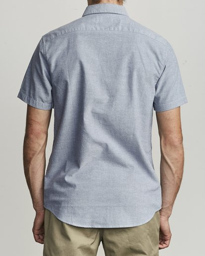 2 That'll Do Stretch Button-Up Shirt Blue M501VRTD RVCA