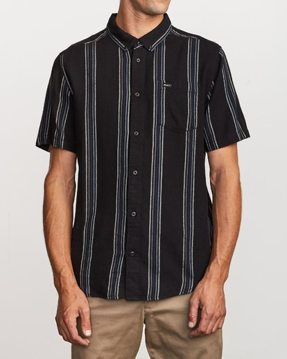 1 Split Stripe Button-Up Shirt  M509VRSS RVCA