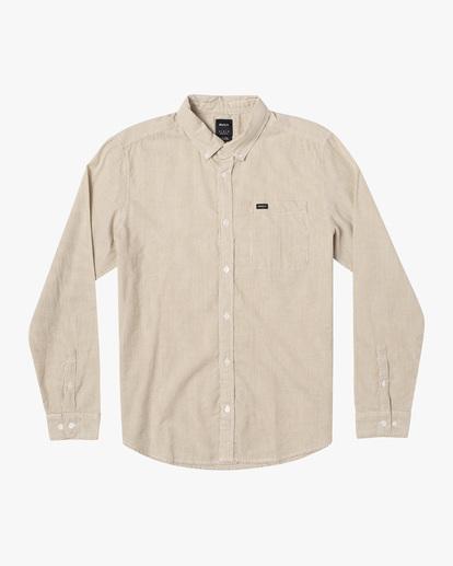 0 Endless Seersucker Long Sleeve Shirt Brown M5192REN RVCA