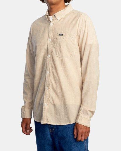 4 Endless Seersucker Long Sleeve Shirt Brown M5192REN RVCA