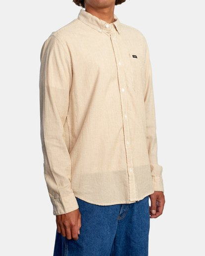 5 Endless Seersucker Long Sleeve Shirt Brown M5192REN RVCA