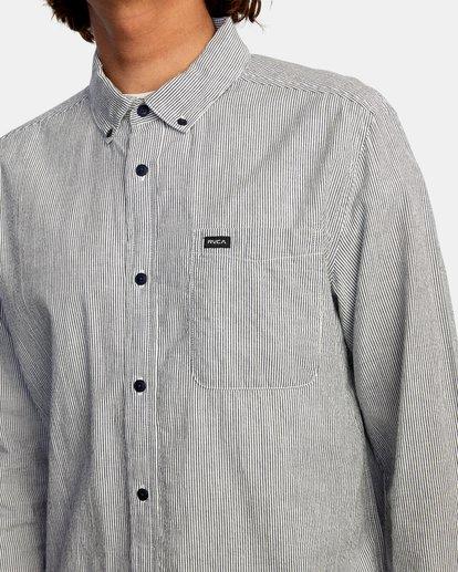 3 Endless Seersucker Long Sleeve Shirt Blue M5192REN RVCA