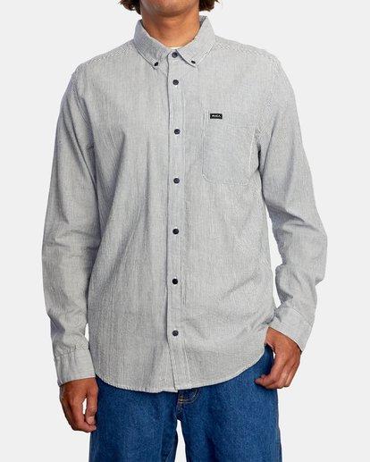 1 Endless Seersucker Long Sleeve Shirt Blue M5192REN RVCA