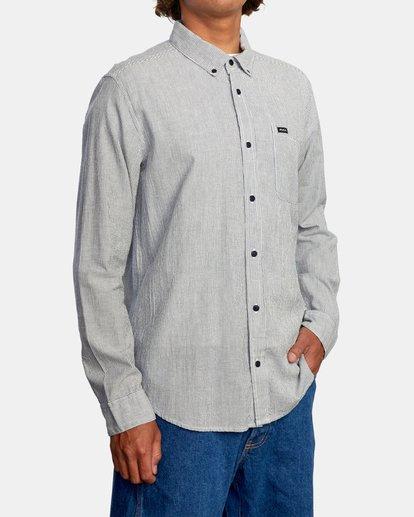5 Endless Seersucker Long Sleeve Shirt Blue M5192REN RVCA